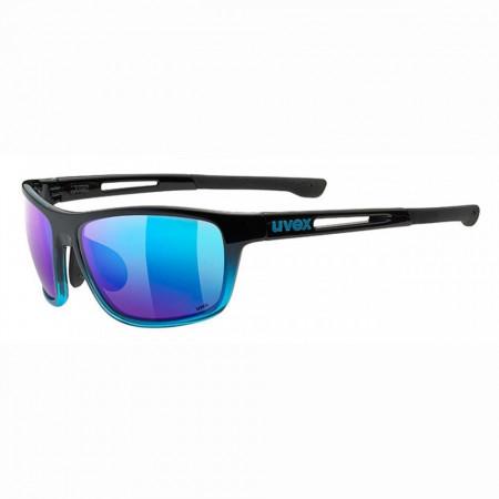 Ochelari Sport UVEX SPORTSTYLE RXd 4004 Black Gloss, lens Grau 80% - Blue Mirror, marime 58/16