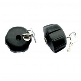 Peruzzo 365/2 - set de 2 incuietoare antifurt pentru suport de bicicleta