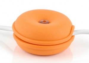 Cable Turtle Mini portocaliu | Organizator cabluri