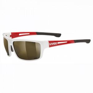 Ochelari Sport UVEX SPORTSTYLE RXd 4001 White/Red, lens Brown 85%, 65/16