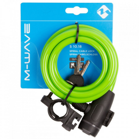 "Antifurt cu Cheie M-WAVE ""S 10.18"" Verde"