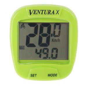 """Ciclocomputer VENTURA """"X"""" 10 Functii verde-cu fir"""