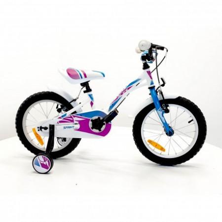 """Bicicleta Sprint Alice 16"""" 1SP 2021, alb lucios/albastru"""