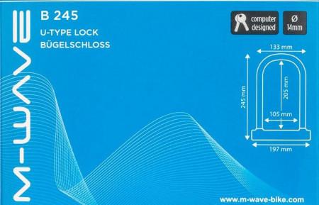 "Antifurt Cadru U-Lock M-WAVE ""B 245"""