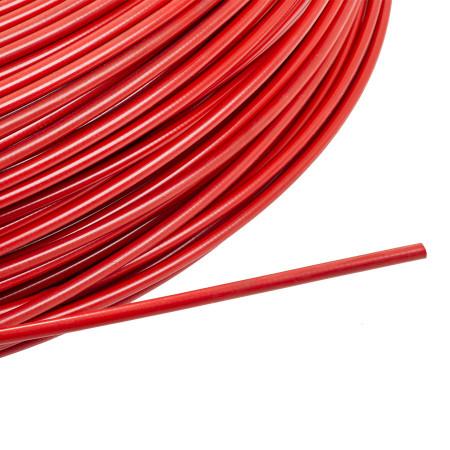 Manta cablu frana ROSU NEON 1M- 2P/5mm