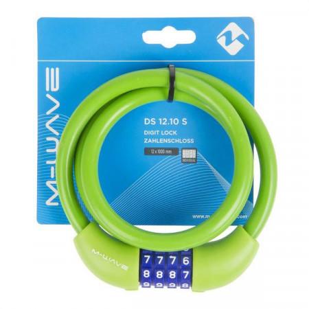 "Antifurt cu Cifru M-WAVE ""DS 12.10 S""-Verde"