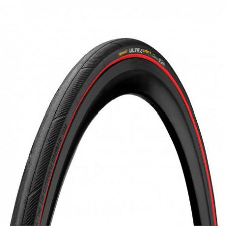 Anvelopa Continental UltraSport III 25-622 (700-25C) negru/rosu