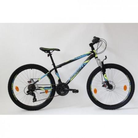 "Bicicleta MTB Sprint 26"" 2021 furca suspensie negru mat/albastru 360mm"