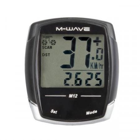 "Ciclocomputer M-WAVE ""M12"" 12 Functii cu fir"
