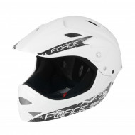 Casca Force Downhill Junior Alb lucios S/M