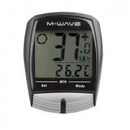 "Ciclocomputer M-WAVE ""M16"" 16 Functii cu fir"