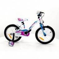 """Bicicleta Sprint Alice 18"""" 1SP 2021, alb lucios/albastru"""