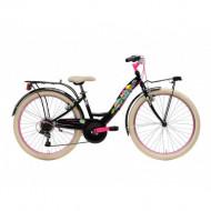 Bicicleta Adriatica CTB 24 Donna 2021 6V neagra