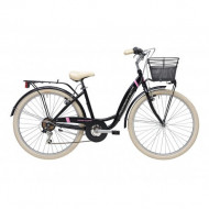Bicicleta Adriatica Panda 26 Lady 6V Negru mat 42 cm