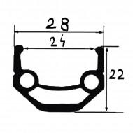 """Roata Fata 28""""/29""""-32H(spite)butuc rulmenti-Boost 110/15 mm-24 mm"""
