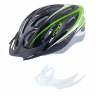 Casca Hal negru/verde/alb S-M