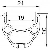 "Roata Fata 27.5""-32H(spite) butuc rulmenti- frana disc/6 suruburi QR"