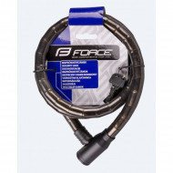Lacat Force F Cu Protectie 150cm/18mm Negru