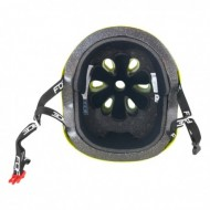Casca BMX fluorescent lucios L-XL