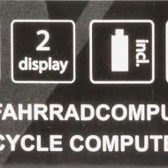 "Ciclocomputer VENTURA ""X"" 10 Functii alb-cu fir"