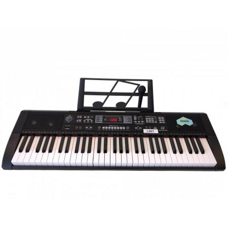 Orga electronica 607 cu Bluetooth, Microfon, 61 clape, USB, 200 Timbre/Ritmuri