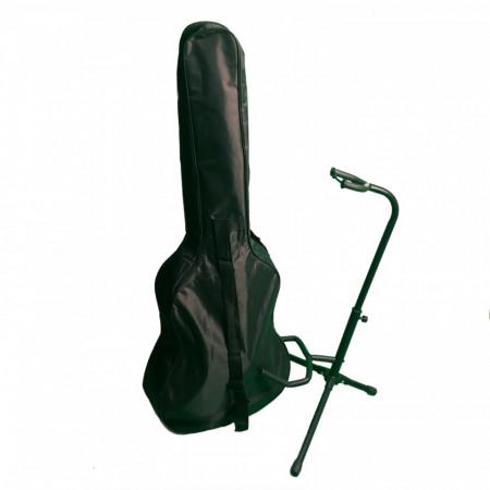 Pachet Geanta cu fermoar + Stativ pentru chitara 3/4 (max 97x36cm)