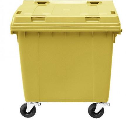 Poze Container 1100 l capac plat, galben