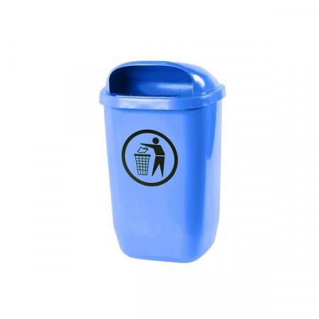 Cos de gunoi stradal 50 l albastru
