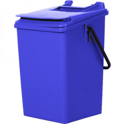 Cos de gunoi pentru birou 10 l, albastru