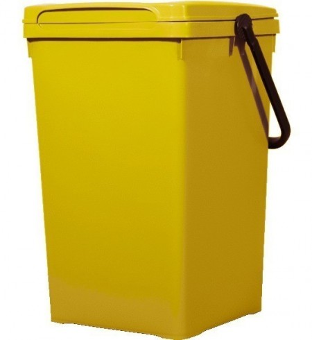Cos de gunoi pentru birou 50 l, galben