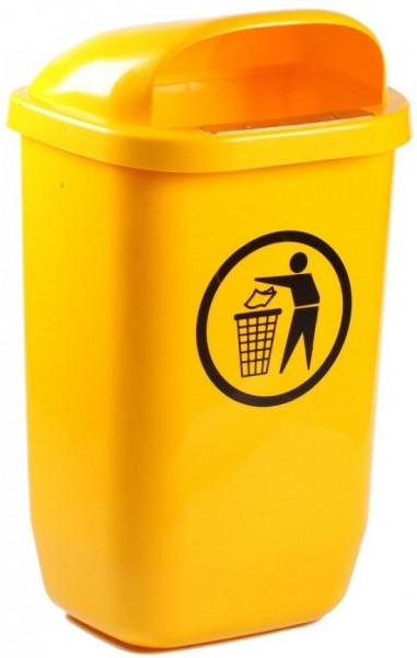 Cos de gunoi stradal 50 l galben