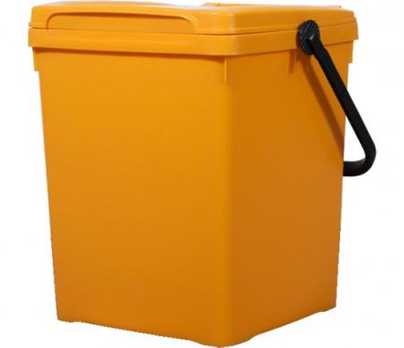 Cos de gunoi pentru birou 40 l, galben