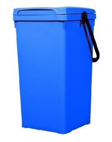 Cos de gunoi pentru birou 32 l, albastru