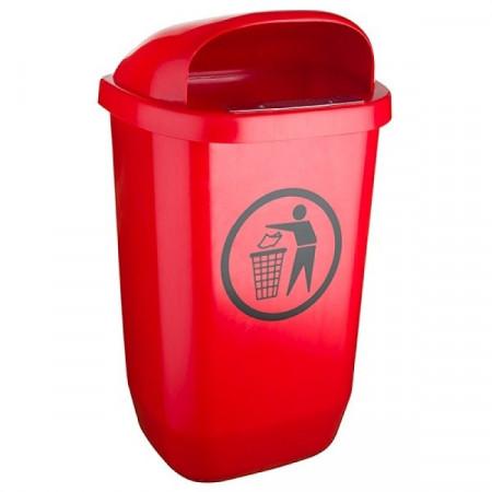 Cos de gunoi stradal 50 l rosu