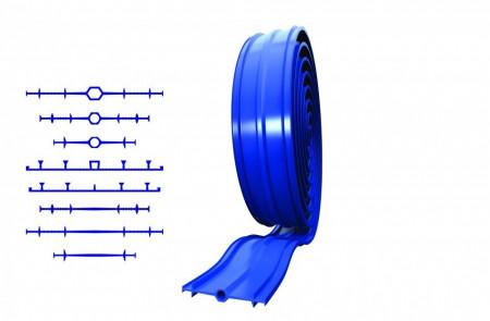 Banda apa-stop din PVC tip REARGUARD CU BULB CENTRAL (250 mm)