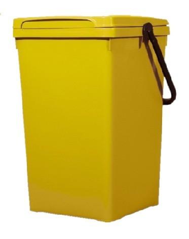 Cos de gunoi pentru birou 32 l, galben