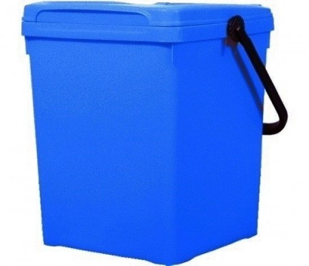 Cos de gunoi pentru birou 40 l, albastru