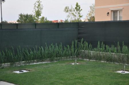 Plasa mascare garduri 1.5X50 m, grad umbrire 80%, verde