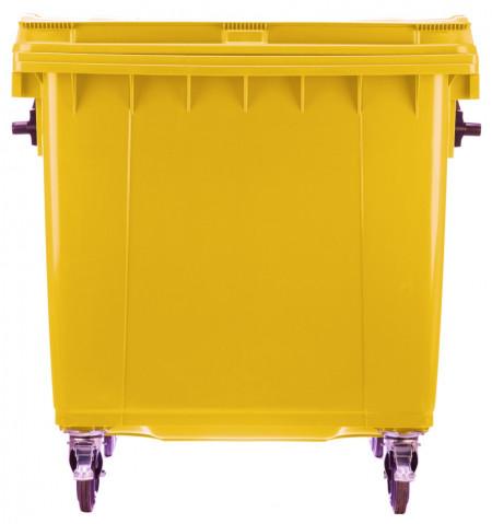 Poze Container 1100 l pentru colectare selectiva plastic - galben