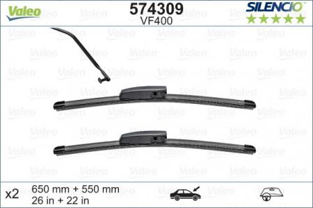 SET STERGATOARE VALEO SILENCIO X.TRM 650/550 MM VF400