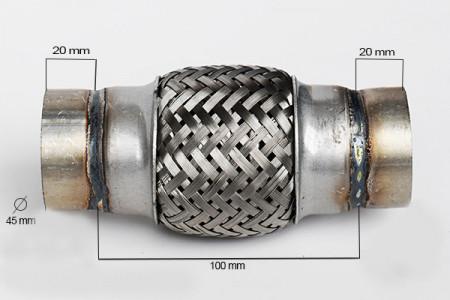 RACORD FLEXIBIL INNER & OUTER BRAID (B) 45x100 MM