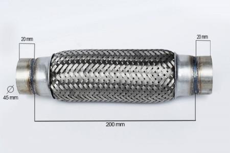 RACORD FLEXIBIL INNER OUTER BRAID (B) 45x200 MM