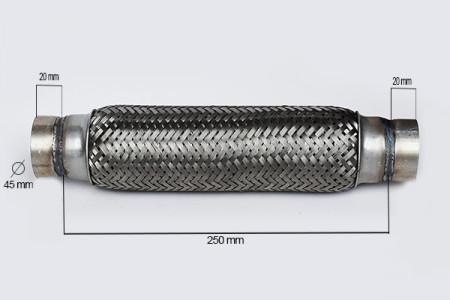 RACORD FLEXIBIL INNER & OUTER BRAID (B) 45x250 MM
