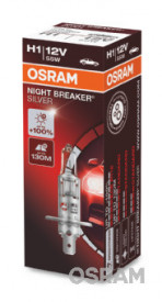 BEC 12V H1 55 W NIGHT BREAKER SILVER +100% OSRAM