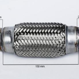 RACORD FLEXIBIL INNER OUTER BRAID (B) 45x150 MM