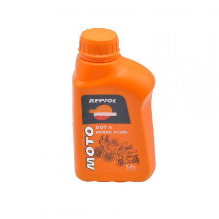 Lichid de frana REPSOL MOTO Sintetic DOT4, 500 ml.