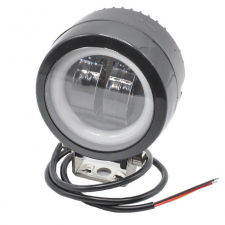 Proiector auto-moto LED 20W tip HG 817, cu Angel Eye alb