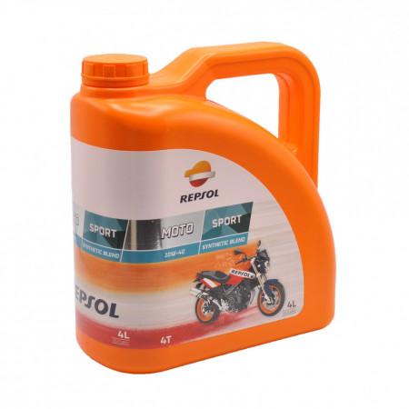 Ulei motor semi-sintetic Repsol Moto Sport 4T 10W-40, 4L