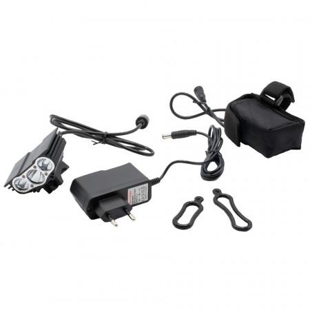 Far bicicleta cu LED-uri, reincarcabil, 6000 LM