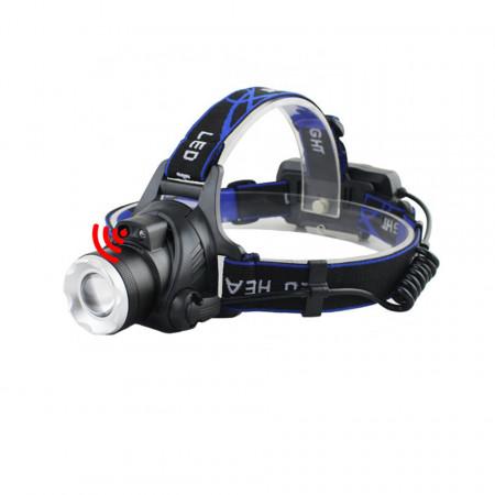 Lampa frontala HL9-S cu senzor de miscare, zoom si baterie reincarcabila USB